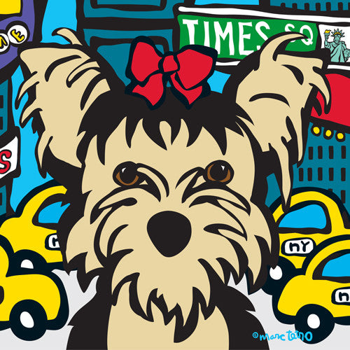 NYC Yorkie in Times SQ Print