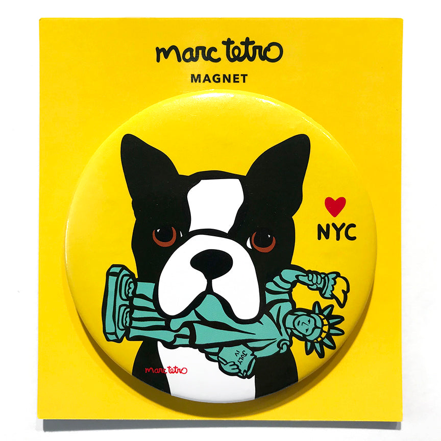 SALE! NYC Boston Terrier Magnet