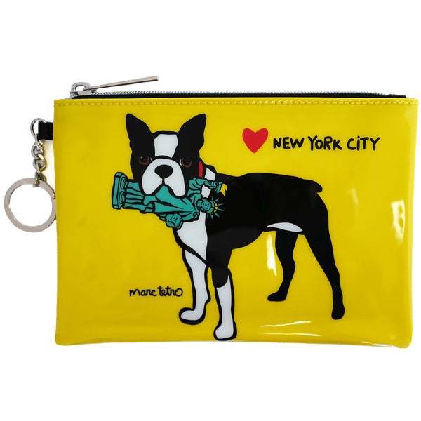 SALE! NYC Boston Terrier Zip Pouch