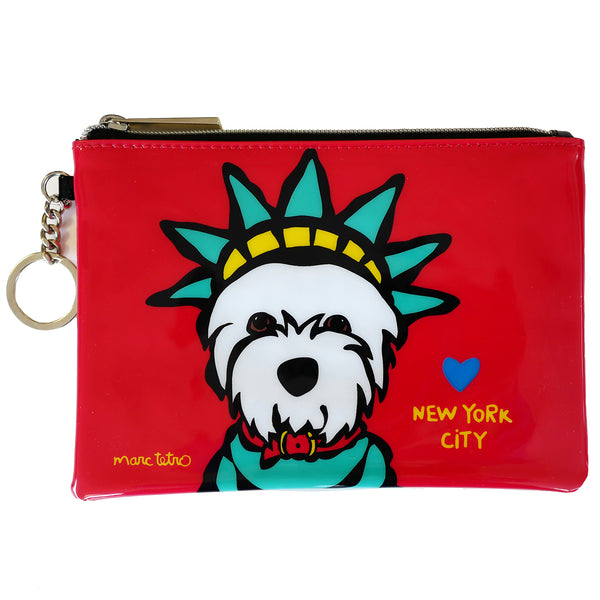 NYC Westie Liberty Zip Pouch