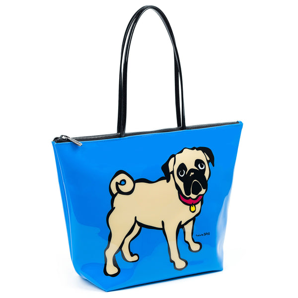 Pug Zipper Tote Bag