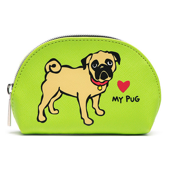 Pug Mini Cosmetic Case