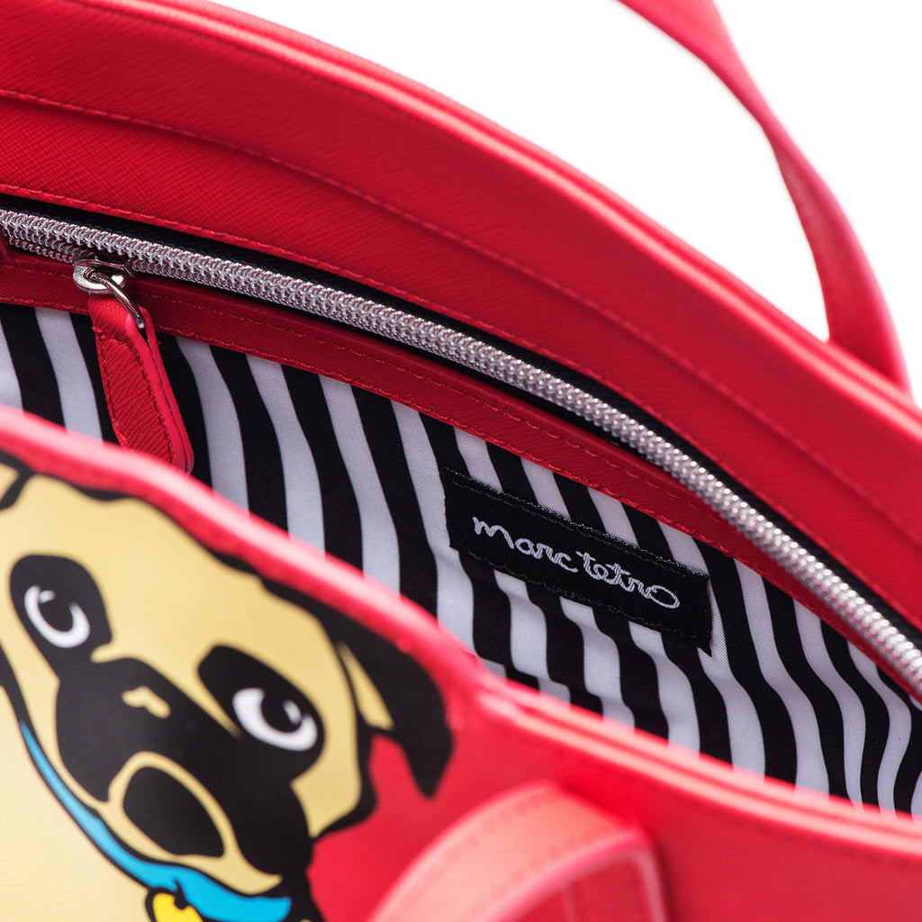 Cross Body Tote Bag - Pug