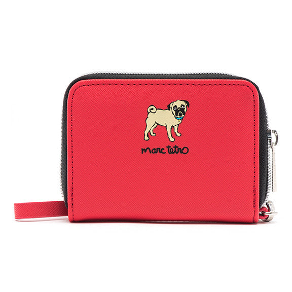 Pug Zipper Wallet- Small