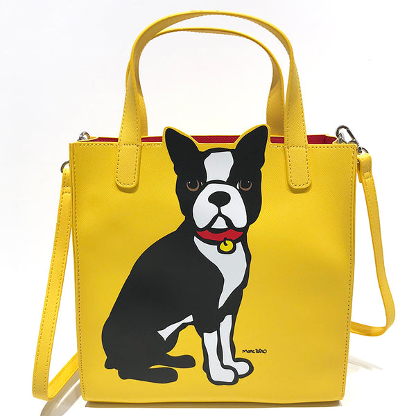 SALE! Boston Terrier Saffiano Crossbody Tote