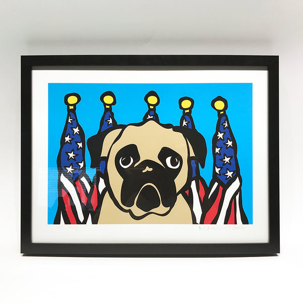 SALE! Framed Washington DC Pug