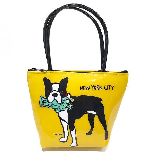 SALE! NYC Boston Terrier Zip Tote- Small