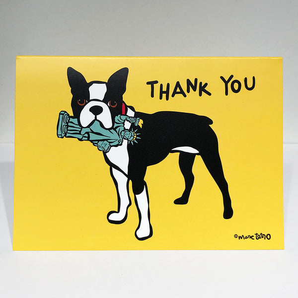 SALE! NYC Boston Terrier Thank You Cards