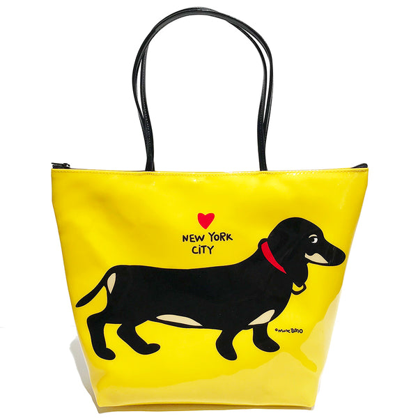 SALE! NYC Dachshund Zipper Tote