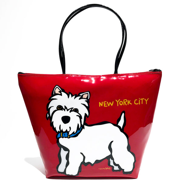 SALE! NYC Westie Zipper Tote