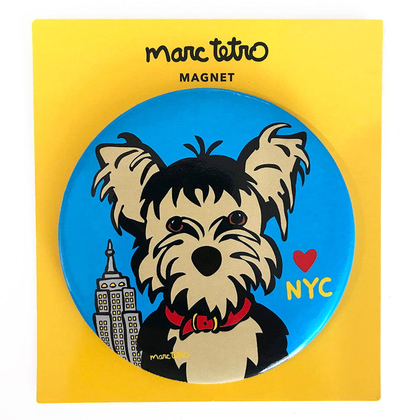 SALE! NYC Yorkie Magnet