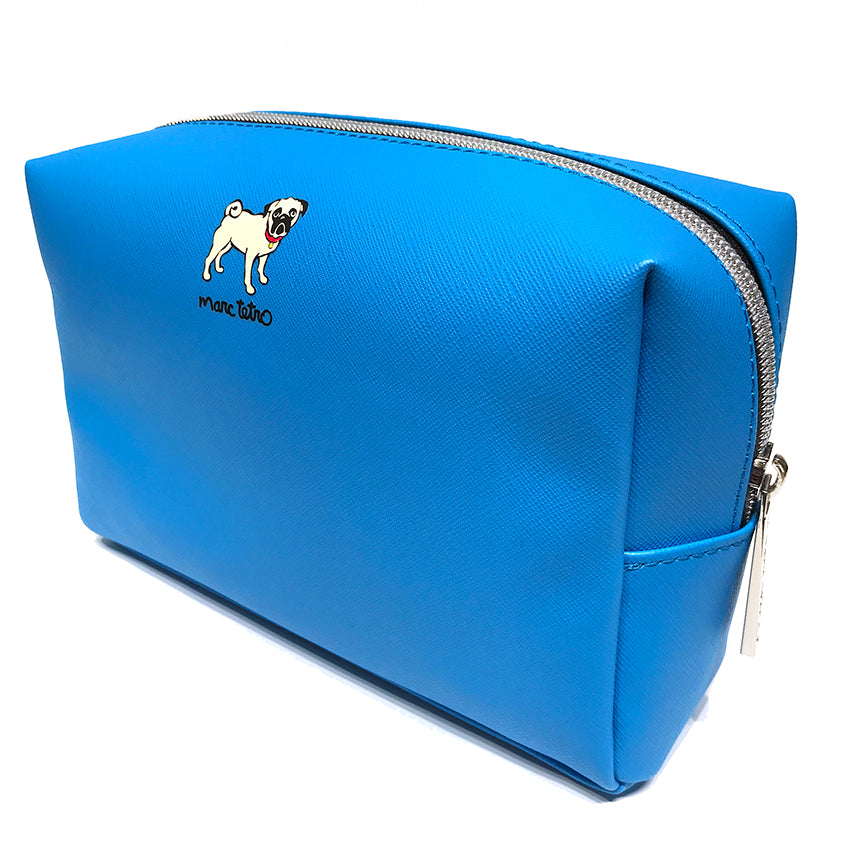 Pug with Shirt Cosmetic Case - Large