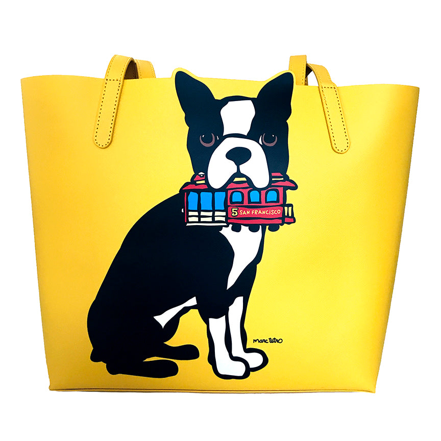 SALE! Boston Terrier with Cable Car Bag