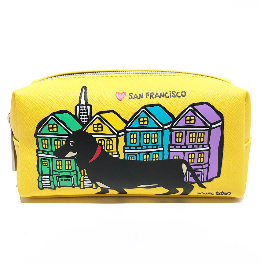 SALE! San Francisco Dachshund Cosmetic Case - Small