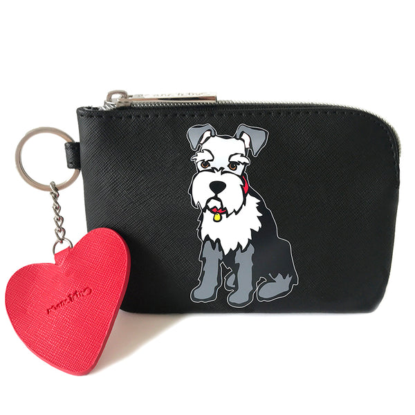 SALE! Schnauzer Pouch with Dangle