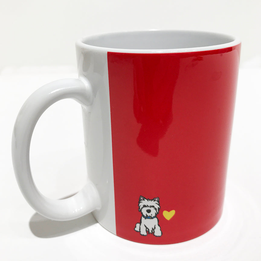 SALE! Westie with Flower Mug