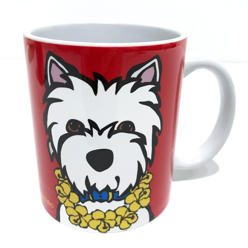 SALE! Westie with Lei Mug