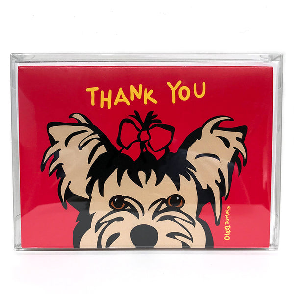 SALE! Yorkie Thank You Cards