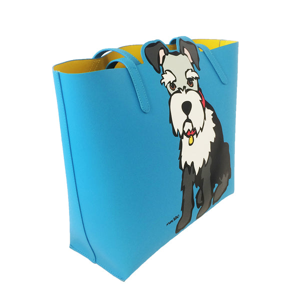 Schnauzer Tote Bag with Dangle