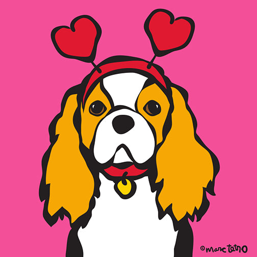 NEW! Valentine's Day Cavalier King Charles Print