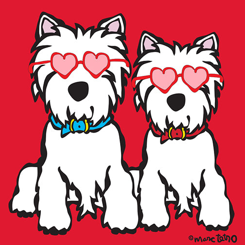 NEW! Valentine's Day Westie Print