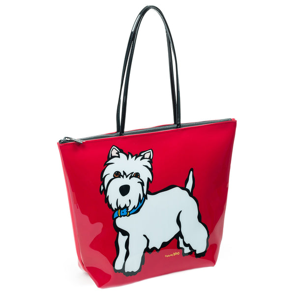 Westie Zipper Tote Bag