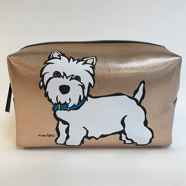 SALE! SAMPLE Westie Cosmetic Case - Large