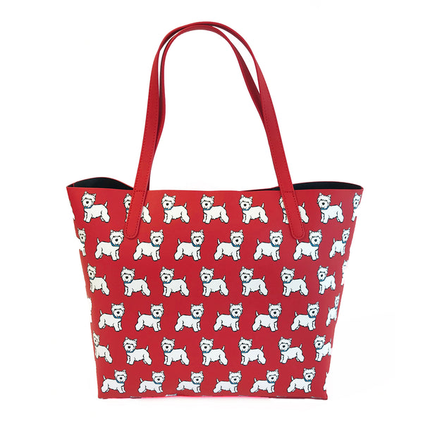 Westie Pattern Tote Bag
