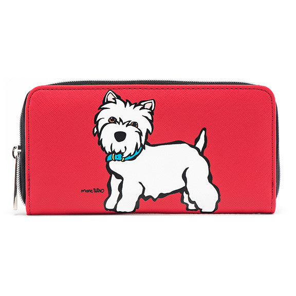 Large Zipper Wallet - Westie