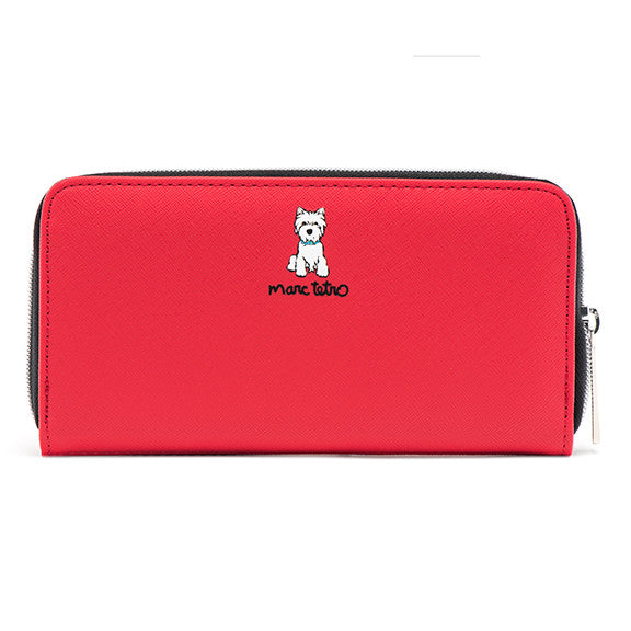 SALE! Large Zipper Wallet - Westie
