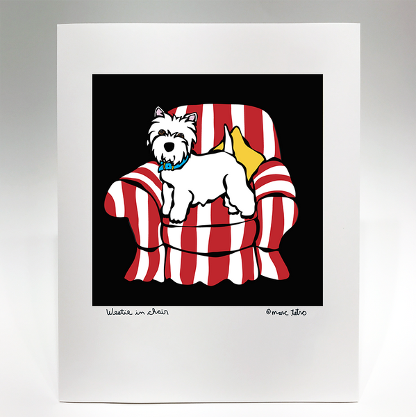 Westie in Chair Print