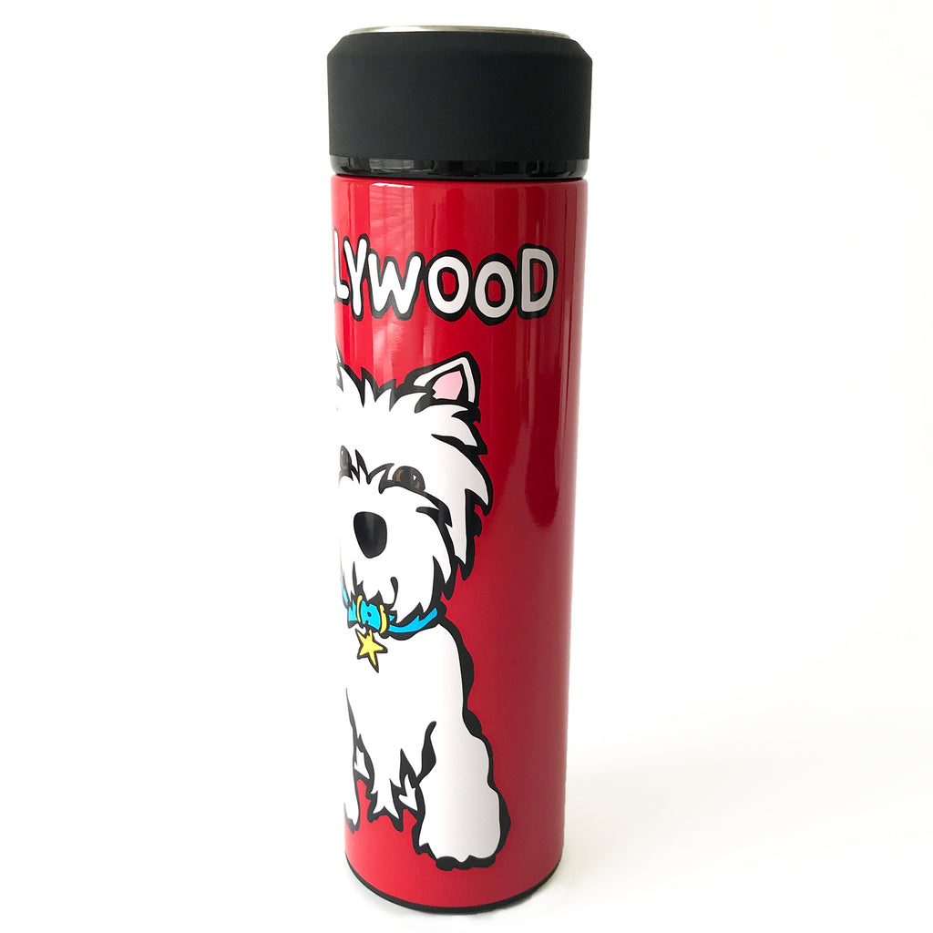 HW Westie on Red Vacuum Insulated Water Bottle