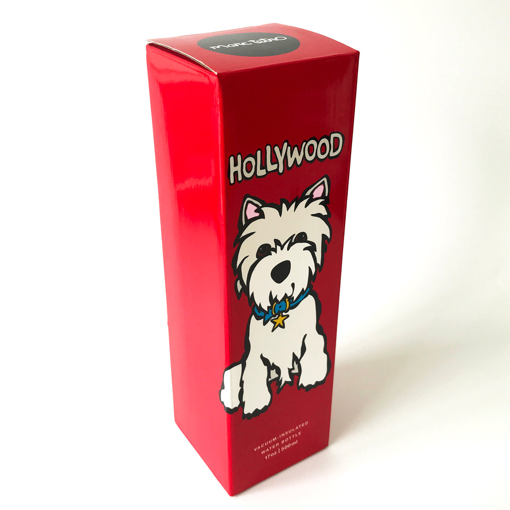 SALE! HW Westie on Red Vacuum Insulated Water Bottle