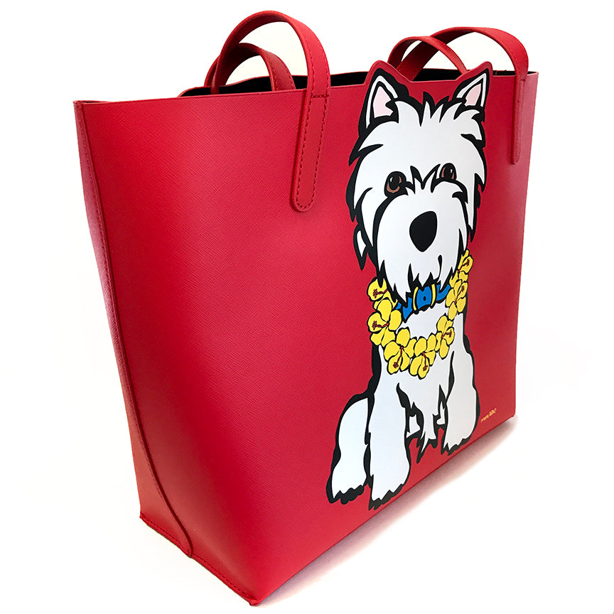 SALE! Westie with Lei Bag