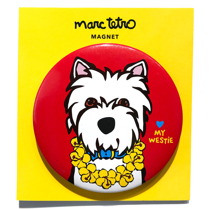 SALE! Westie with Lei Magnet