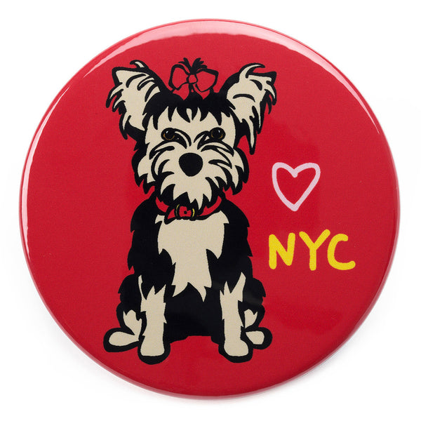 NYC Yorkie Magnet