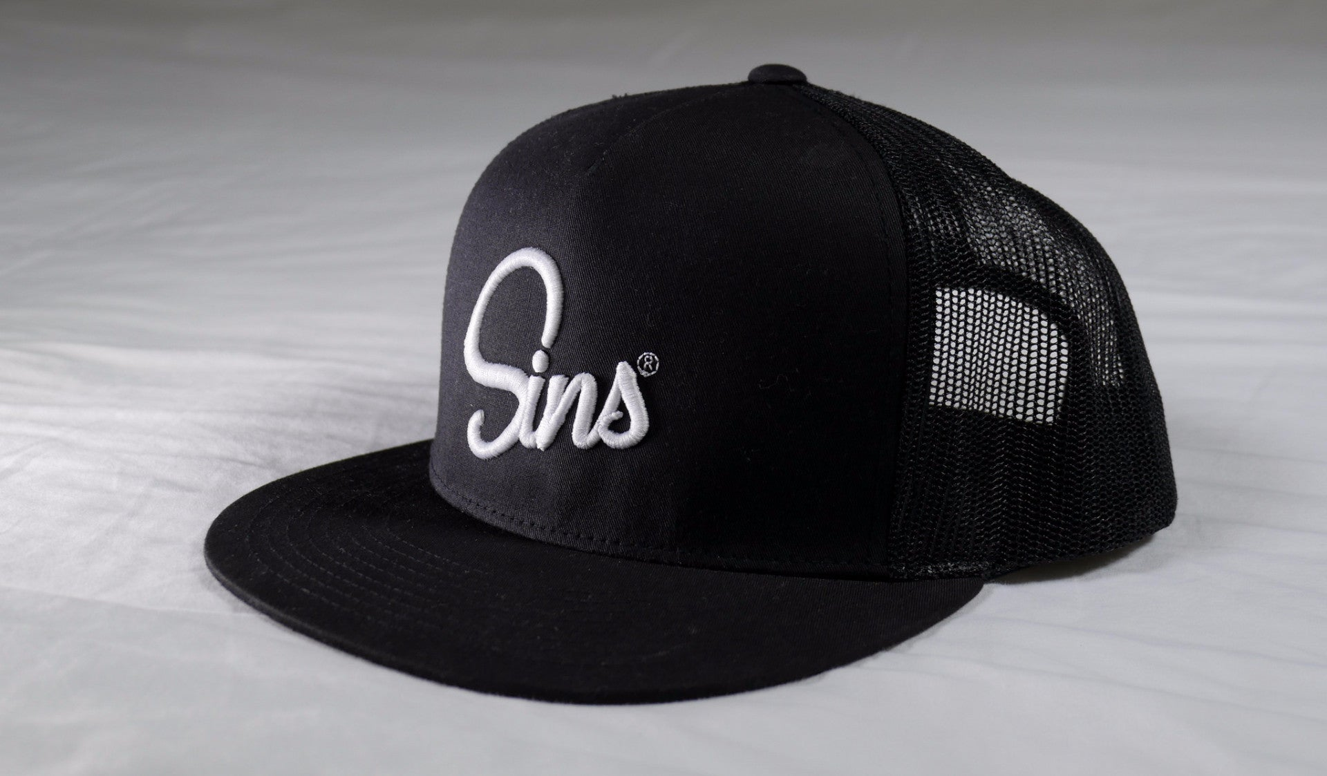 Sins Logo Hat Puff Embroidery by Johnny Sins and Kissa Sins