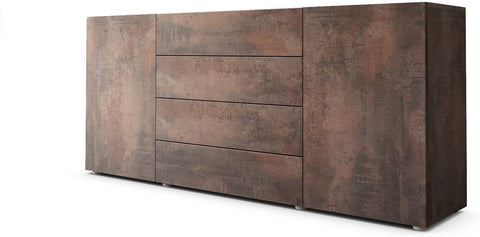 "OPEN BOX - Sideboard Cabinet ""Massa in Brown Steel/ Brown Steel"