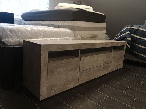 TV Stand Santa Fe in Concrete Design - 66""