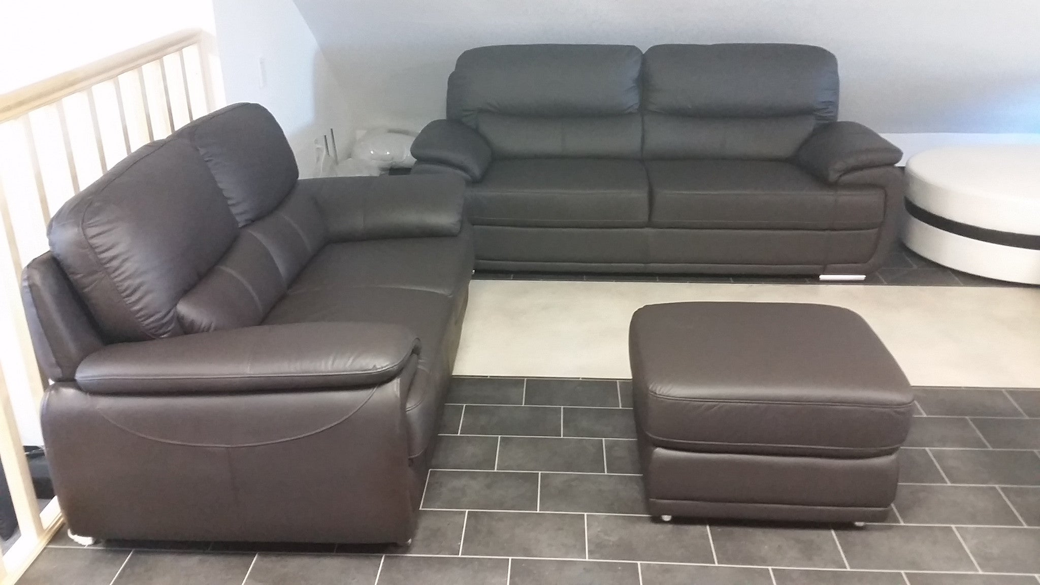 Sofa Set Couch Set Quot Argento Quot In Genuine Brown Leather