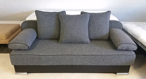 Sofa Bed / Futon Natali Black / Dark Grey