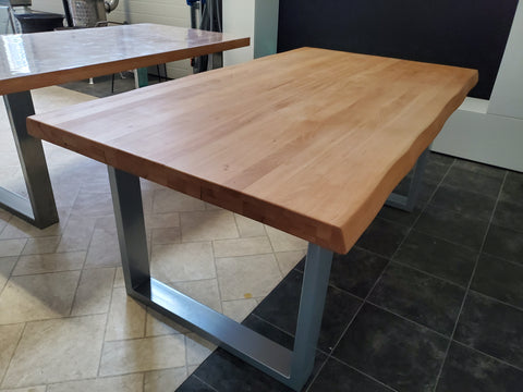 Open Box - Modern Dining Table - Beech Table Top 71""