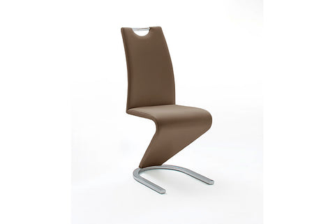 "OPEN BOX - Dining Chair ""Amado"" in Brown PU"