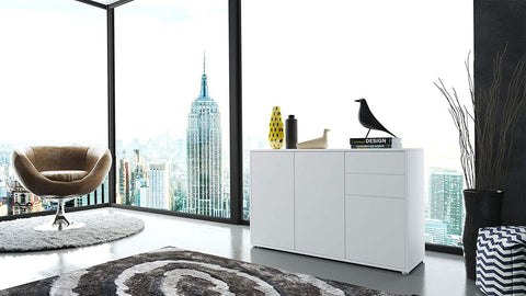 "OPEN BOX - Storage Cabinet ""Ben V3"" in White/ White Matt"