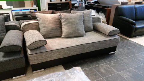 Sofa Bed / Futon Natali Black / Grey