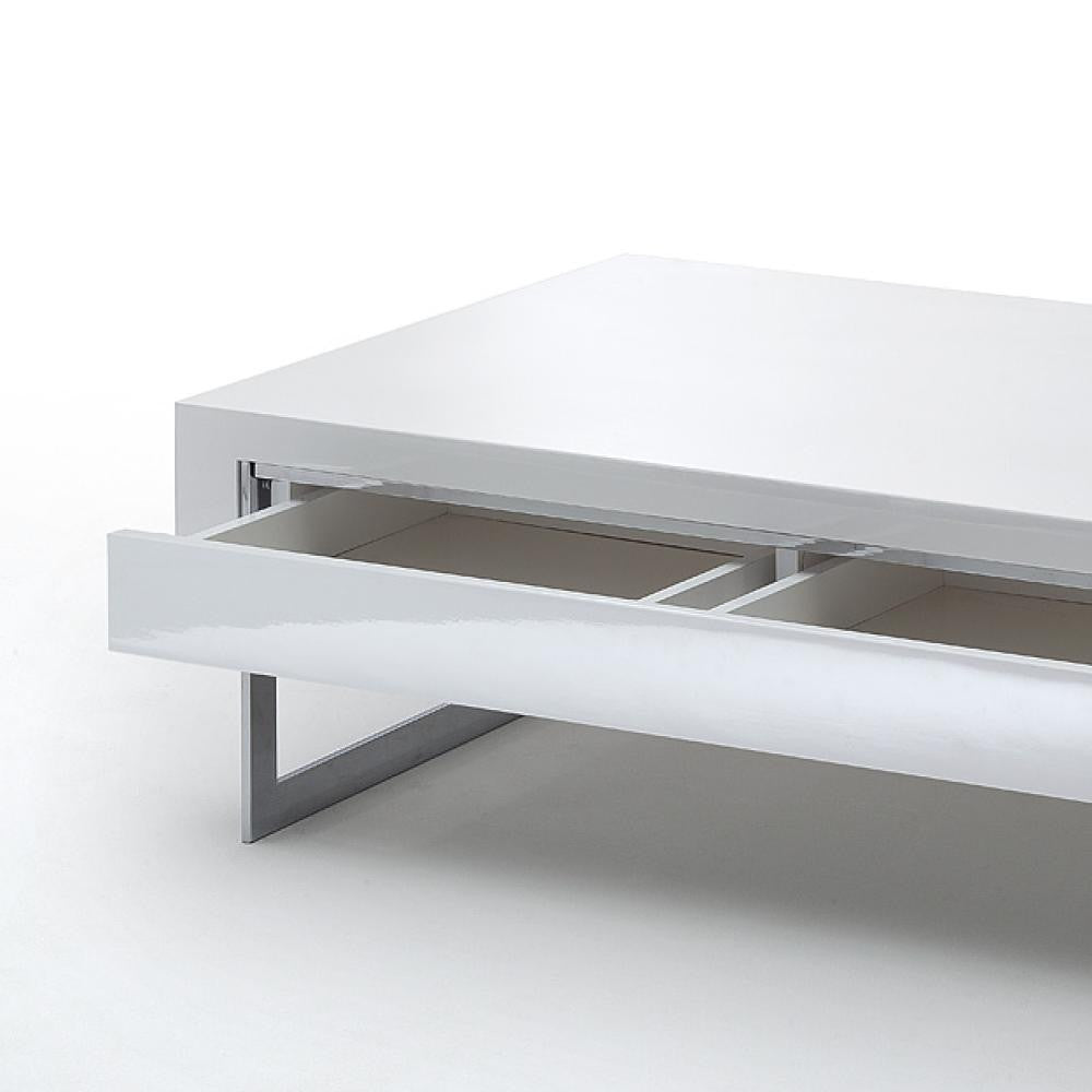 "Coffee Table ""Cooper"" In White High Gloss"