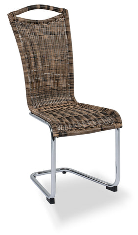 "Dining Chair ""Vivian"" in Tri-Color Rattan"