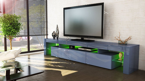 "TV Stand ""Lima V3"" - Grey High Gloss"