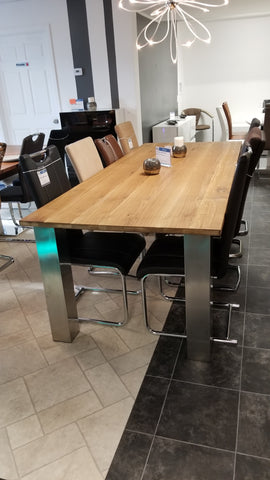"Dining Table ""Harvest Silver"" in Solid Oak - 94"""