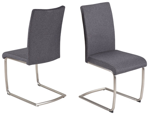 "Dining Chair ""Nancy"" in Grey Fabric"
